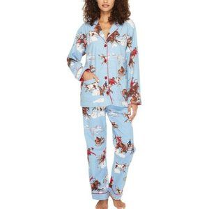 PJ Salvage Bucking Bronco Flannel Pajama Set